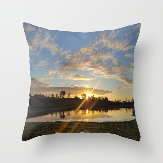 Inbetween Country and Paradise Throw Pillow