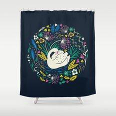 Wild Swan Shower Curtain