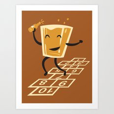 Hop-Scotch Art Print