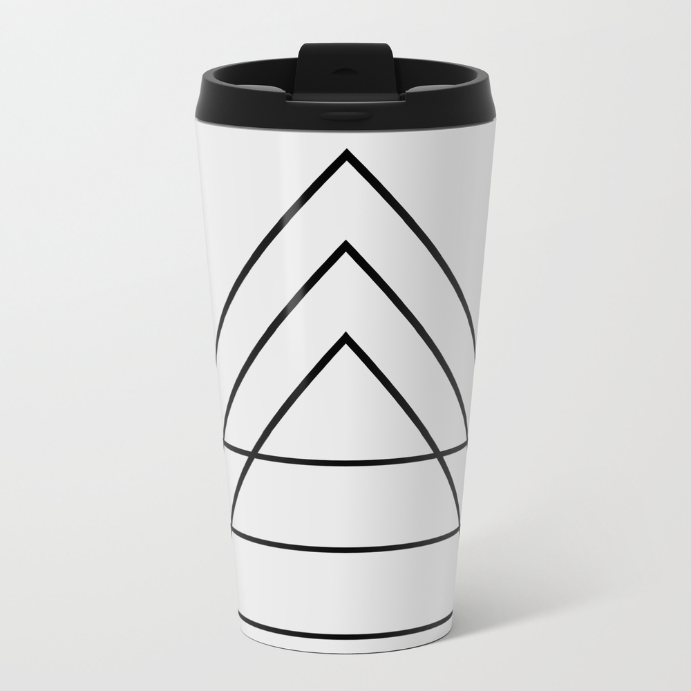 Minimal Trio Of Triangles Travel Mug TRM6441763