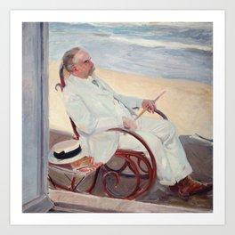 Antonio García at the Beach - Joaquín Sorolla Art Print