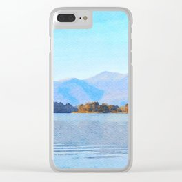 Mountains Behind Derwentwater, Lake District, Cumbria, UK Clear iPhone Case