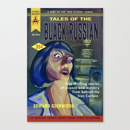 """Tales of the Black Russian"" Book Cover Canvas Print"