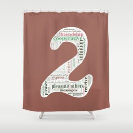 Life Path 2 (color background) Shower Curtain