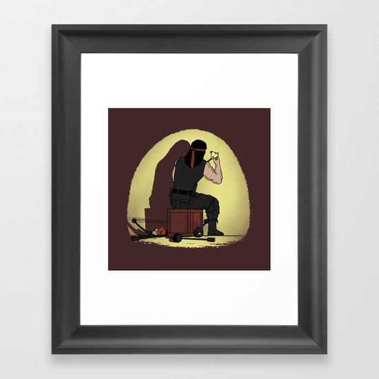 Bow and Arrow is Better Framed Art Print