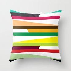 Irregular stripes #2 Throw Pillow