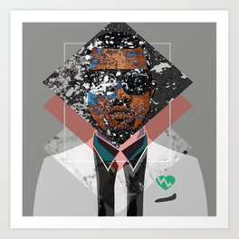 Hip Hop KanyeWest Compilation Minimal Abstract Art Print