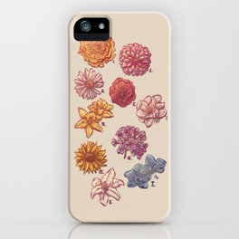 10 Flowers iPhone Case