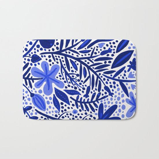 Blue Garden Bath Mat
