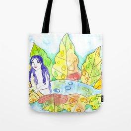 Water Drop Mermaid Tote Bag