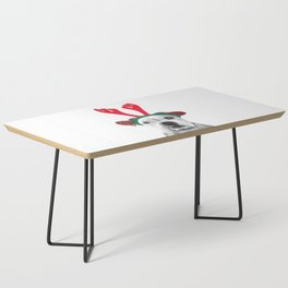 Black and White Boxer Christmas Coffee Table