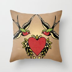 Swallows Throw Pillow