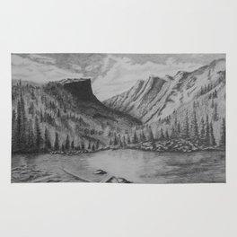 Mountain in Pencil Rug