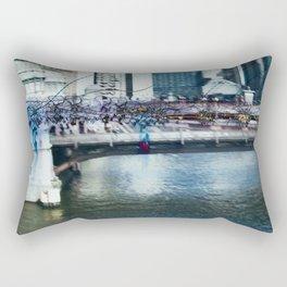 Light Bridge - Light Painting Rectangular Pillow