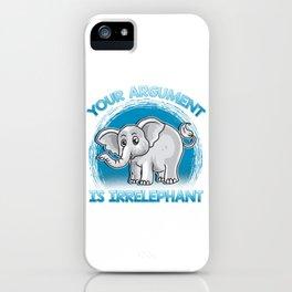 Funny Elephant Gift Idea iPhone Case