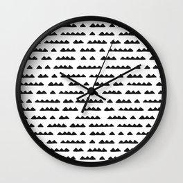 Hand Drawn Pyramids Wall Clock