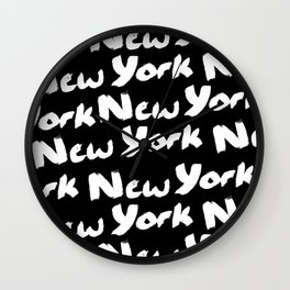 New York New York Wall Clock