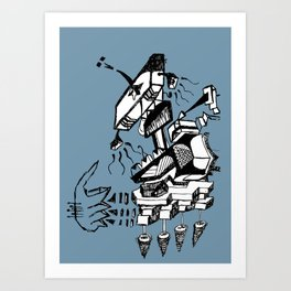 Is this how music sounds better Art Print