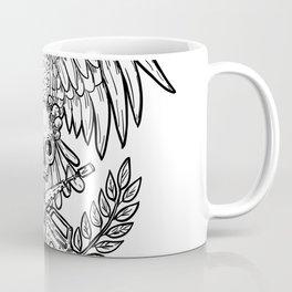 Eagle Skull Assault Rifle Drawing Coffee Mug