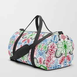 Funny bugs going for a beautiful choreography pattern design Duffle Bag