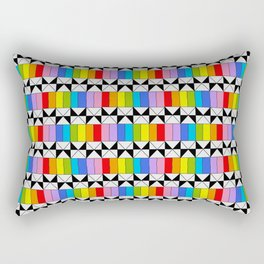 Tribute to mondrian 4- piet,geomtric,geomtrical,abstraction,de  stijl,composition. Rectangular Pillow