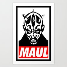 Obey Darth Maul (maul text version) - Star Wars Art Print
