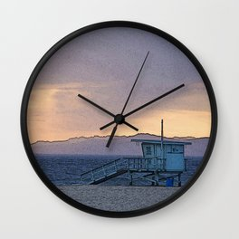 California as a cartoon Wall Clock
