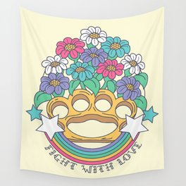 Fight with Love Wall Tapestry