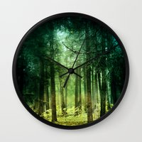 Wall Clocks featuring Enchanted light by Armine Nersisian