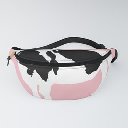 Cow on pink Fanny Pack
