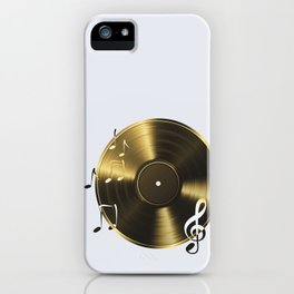 Gold LP Vinyl Record iPhone Case
