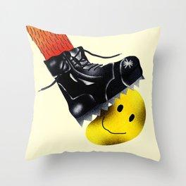 Just Keep Smiling Throw Pillow