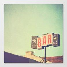 Bar. Los Angeles photograph Canvas Print