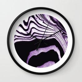 Marble circle minimal design suminagashi japanese marbling minimalist art Wall Clock