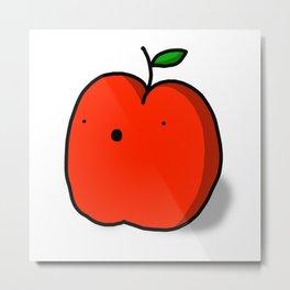 Red Apple | Veronica Nagorny Metal Print