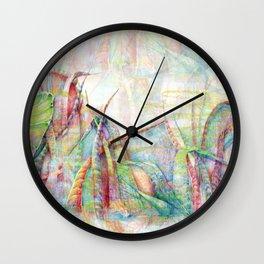 Vegetal color chaos Wall Clock