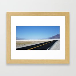 Lonely Road in Death Valley, CA Framed Art Print