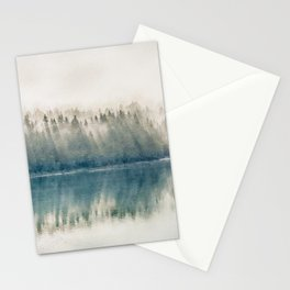 Foggy forest watercolor painting #3 Stationery Cards