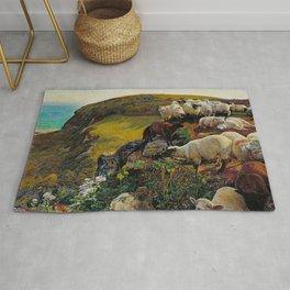 William Holman Hunt - Our English Coasts Rug