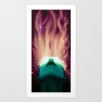 three of the possessed Art Prints featuring Possessed Vixen  by Astrolabe Labs