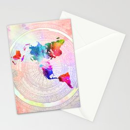 Flat Earth Stationery Cards