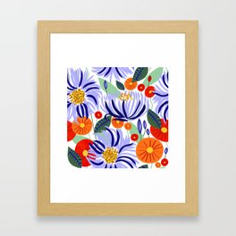 Alia #floral #illustration #botanical Framed Art Print