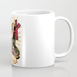 Skate GIRL with Tattoo - ROSE Coffee Mug