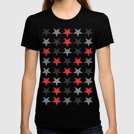 Black Grey Red Stars T-shirt