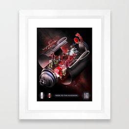Red Bavaria Framed Art Print