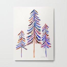 Pine Trees – Vintage Palette Metal Print