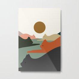 Cat Landscape 93 Metal Print