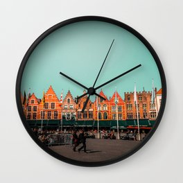 Bruges Cityscape Wall Clock