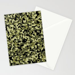Classic Camouflage Green and Black Stationery Cards