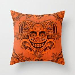 Halloween Crazy Heart Throw Pillow